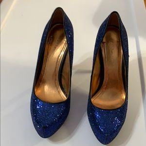 Sparkly blue BCBGeneration heels